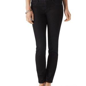 WHBM slim leg Noir jeans 6r